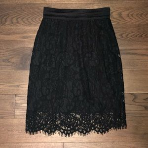 H&M Above the Knee Length Lace Skirt